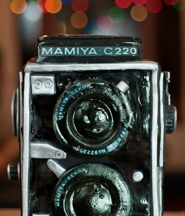 Mamiya C220 Camera Cake by Berliosca Cake Boutique (For my birthday!!!)
