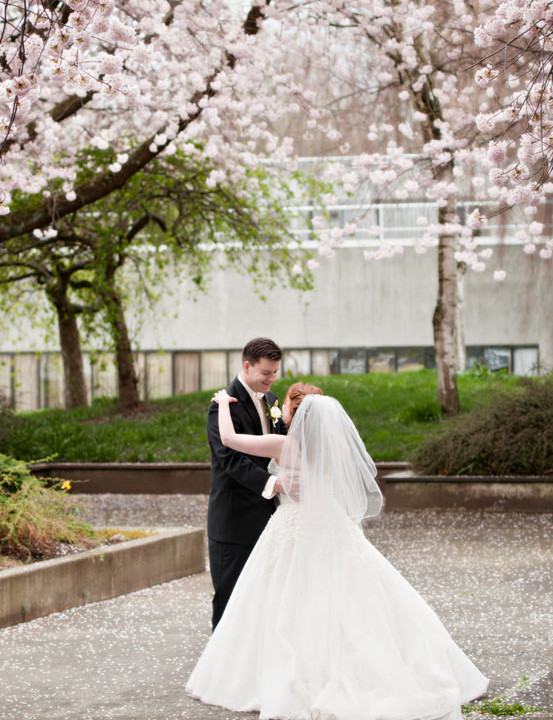 Happy First Anniversary! (I love the blossoms!) | Vancouver Wedding Photography
