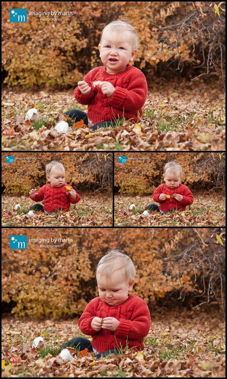 Norah in the leaves 2