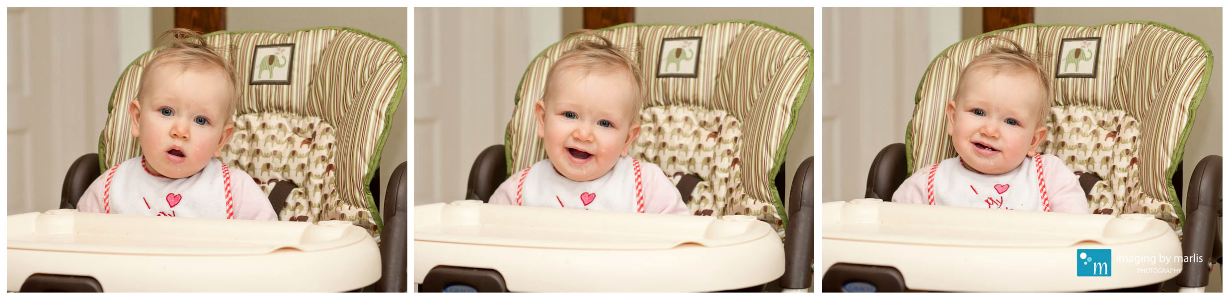 Norah in the highchair