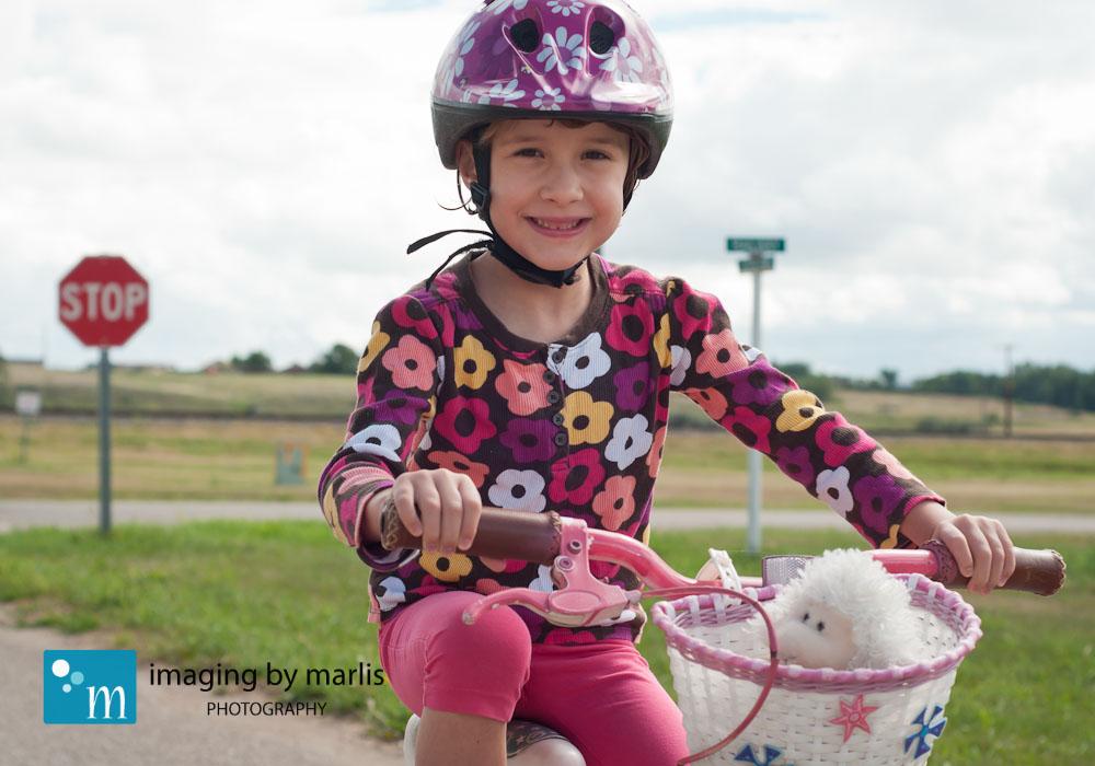 Anna biking