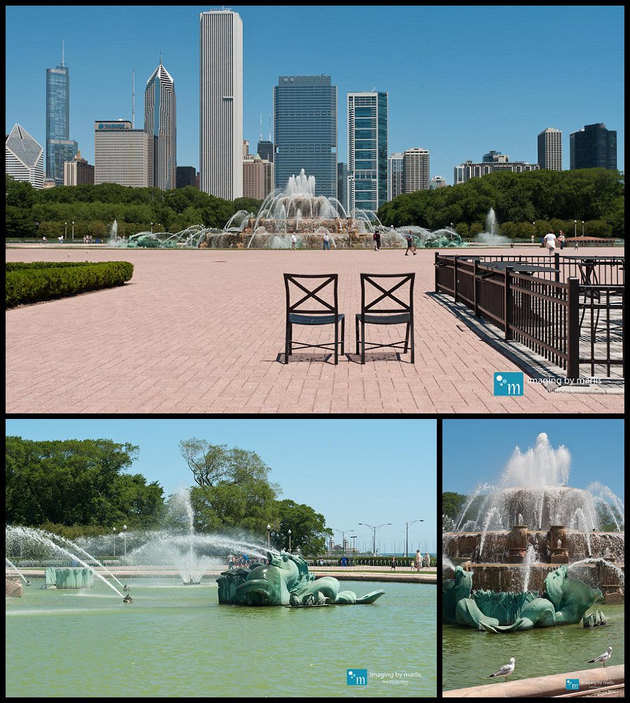 Buckingham Fountain - Chicago! - Photo by Marlis Funk
