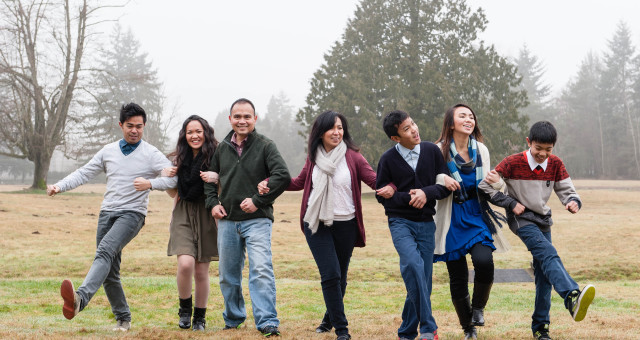 Fun family photos in the fog [Preview] | Vancouver Portrait Photography